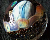 contemporary art glass marble planet with opal collector quality signed with crisanti 2012 murrine