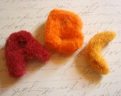 Felt Letters - Custom - Needle Felted Little Letters - You Choose the Letters and Colors - Wool Alphabet