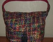 Reversible Bright Twead Hobo Bag