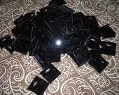 100 Earring Display Cards -- Black Velvet