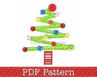 Christmas Tree Applique Template, DIY. PDF Pattern by Angel Lea Designs