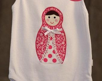 Babushka Doll Applique Template, DIY, Children, Girl, PDF Pattern by Angel Lea Designs, Instant Download Digital Pattern