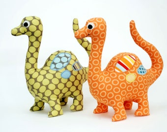 Dinosaur Pattern. Soft Toy. PDF Sewing Pattern for Dinosaur Softie. How to Make Stuffed Dinosaurs. DIY by Angel Lea Designs