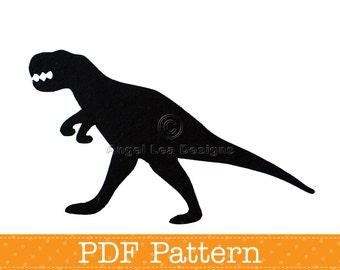 T-Rex Applique Template, Tyrannosaurus Rex Dinosaur, DIY, Children, PDF Pattern by Angel Lea Designs, Instant Download Digital Pattern