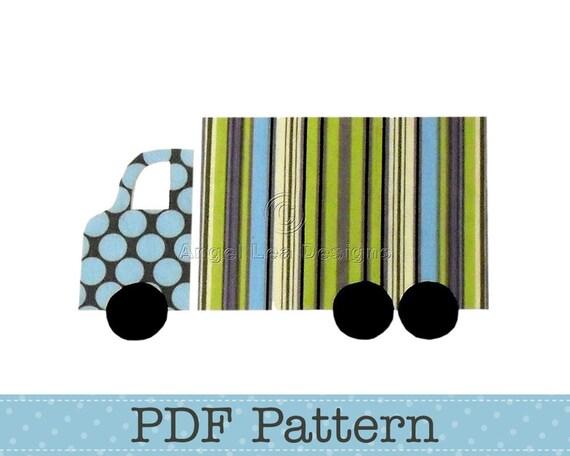 Truck Applique Template, Lorry, Transport, DIY, Children, PDF Pattern by Angel Lea Designs, Instant Download Digital Pattern