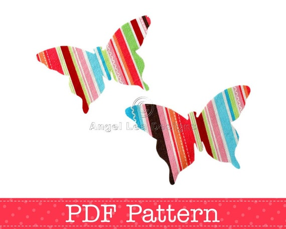 Butterfly Applique Template, DIY, Children, PDF Pattern by Angel Lea Designs, Instant Download Digital Pattern