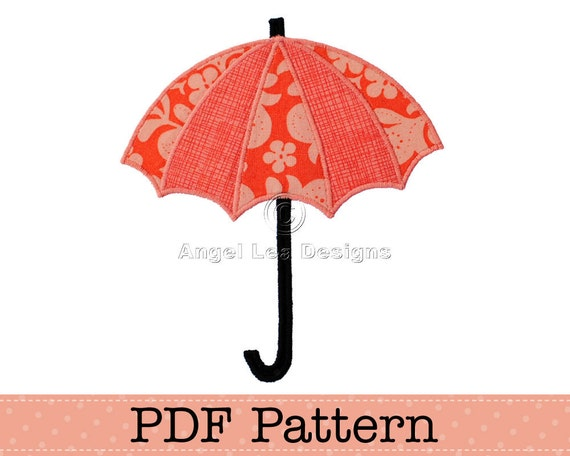 Umbrella Applique Template Diy Children Pdf Pattern By