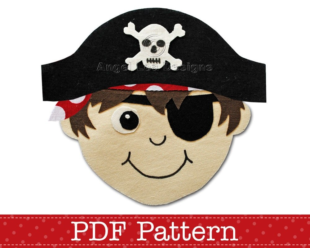 Pirate Applique Template Pdf Applique Pattern Boy Pirate With