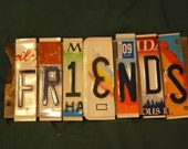 Friends License Plate Sign