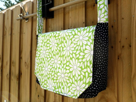 Messenger Style Laptop bag - lime green