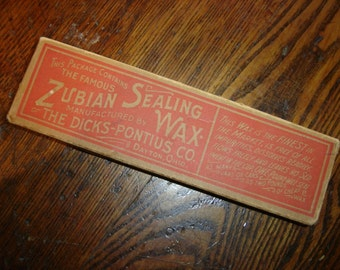 Antique NOS Box of Zubian Canning Sealing Wax 1910s