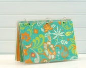 Planner Cover, 6 x 9 Journal Binder, Turquoise and Orange