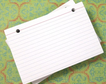 4 x 6 Index Cards or Note Cards, 100 count, Refill