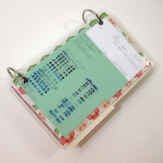 3 X 5 Index Card Or Note Card Binder With Pocket Library Book