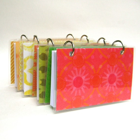 3 X 5 Index Card Or Note Card Binder Set Of Four Brights