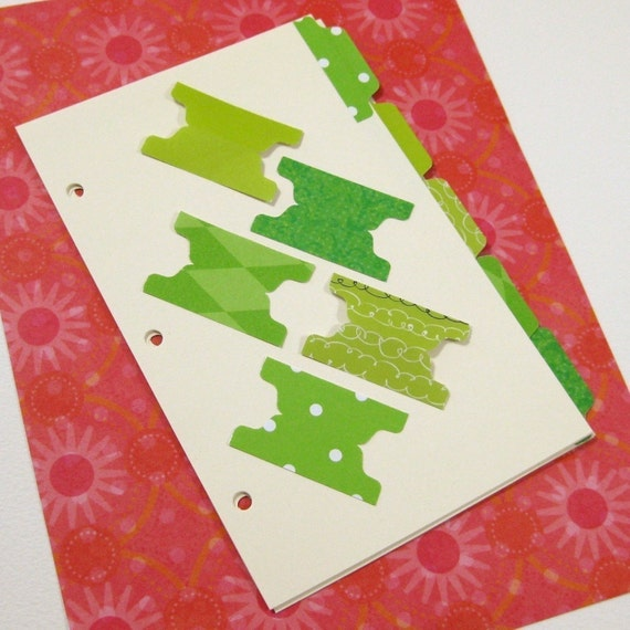 Binder Dividers for Notebooks, Journals and Index Card Binders