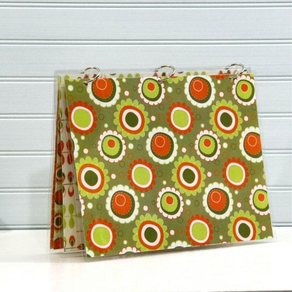 Binder Notebook Planner Cover, 9 x 11, Orange and Avocado