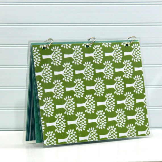 Planner Cover, 9 x 11, Green Trees and Pears