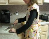 Smock style apron - dots