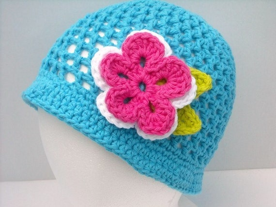 Summer Beanie Hat Crochet Pattern : Items similar to Crochet Summer Hat Beanie Any Size Colors ...