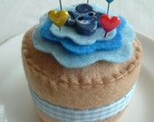 Fun Felt Cupcake Pincushion And Pins