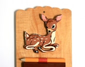 Vintage Wood Deer Shopping List Reminder