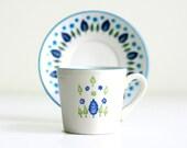 Mid Century Swiss Alpine Teacups and Saucers