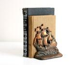 Vintage Ship Bookends