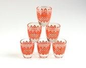 Vintage Geometric Shot Glasses from France