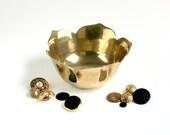 Reserved Listing - Vintage Brass Lotus Bowl