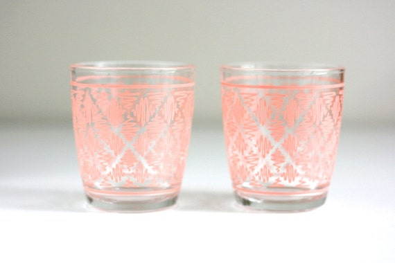 Pink Geometric Cocktail Glasses