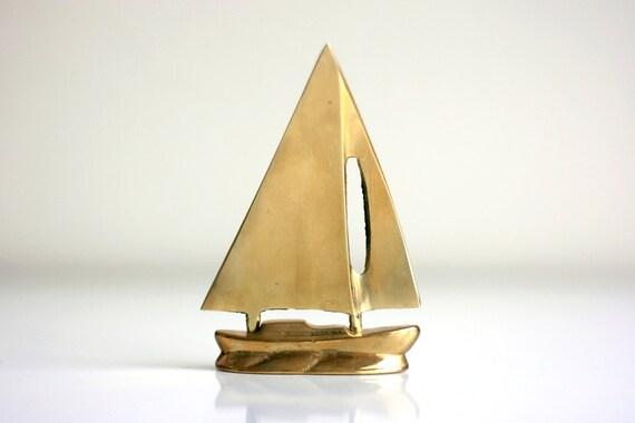 Vintage Brass Sailboat Letter opener