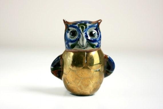 Vintage Mexican Folk Art Owl