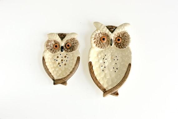 Vintage Owl Dishes