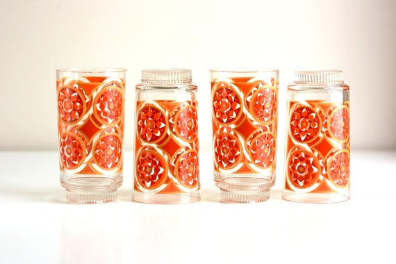 Vintage Geometric Drinking Glasses