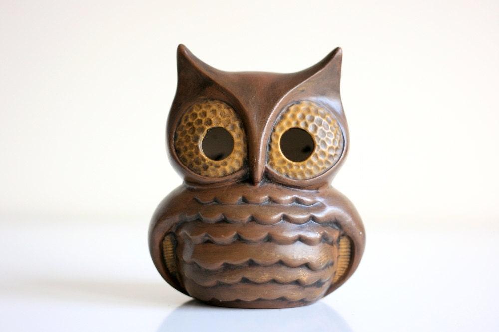 Vintage Ceramic Owl By Wiseapple On Etsy