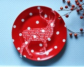 2 transparent acrylic plexiglass animal laser cut engraved silhouette ornaments ( RABBIT, DEER, BAMBI, SEAHORSE)