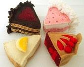 Felt Food Dessert Pattern -CAKE AND PIE DELIGHT
