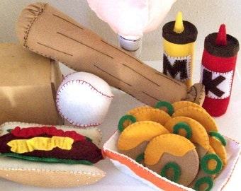 Baseball Felt Pattern - Instant Download - BALLPARK FUN - Felt Food and Toy Tutorial