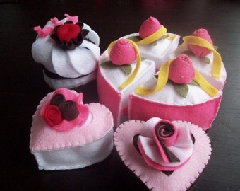 Felt Cake and Sweets Pattern - Instant File - TEA PARTY CAKES - Felt Food