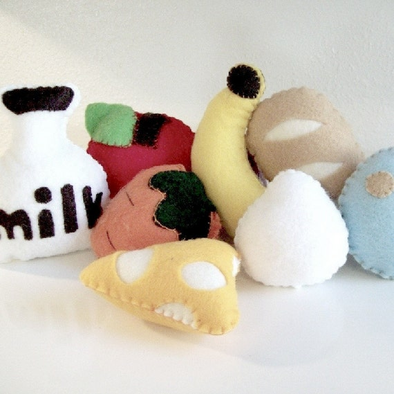 Felt Grocery Store Pattern - Instant Download- FIRST PLAY FOOD - Toys for Baby and Toddler