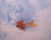 oil painting fall leaves  - Foil