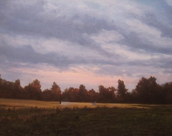 oil painting Landscape sunset original  - Fumes