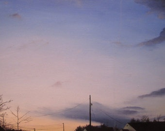 Oil painting landscape realism - As Far As