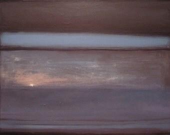 Without end, original landscape oil painting