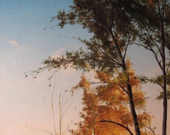 Landscape oil painting - Before Sky