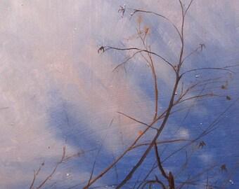 Original Landscape oil painting - Enough Day