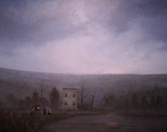 Sea Before Stars, original landscape oil painting