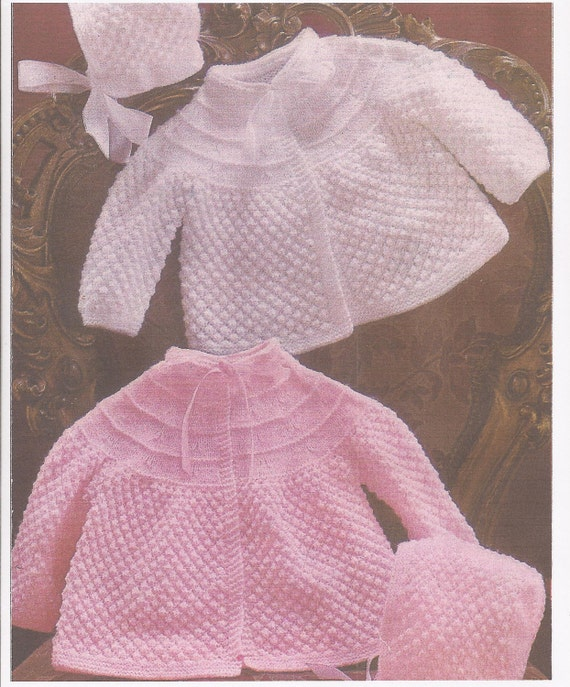Knitting Pattern Angel : PDF Knitting Pattern Baby Angel/Matinee by georgie8109 on Etsy
