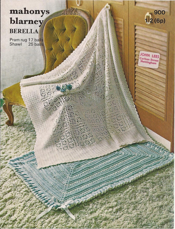 Sweater Patterns Knitting Free : PDF Knitting Pattern Baby Knitted Pram/Cot Blanket & Crochet